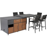Extending 5 Chair Kitchen Table Set