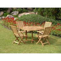 Product photograph showing Windsor Fsc Certified 1 2m Dia Table And Folding Chair Set