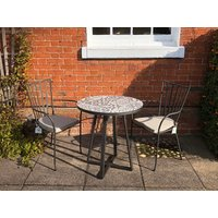 Product photograph showing Terrazzo Bistro Table 70cm