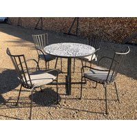 Product photograph showing Terrazzo Bistro Table 90cm