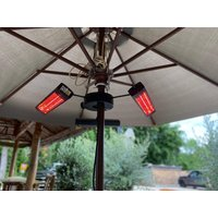 Product photograph showing 3kw Tri Parasol Heater With Remote Pre Order