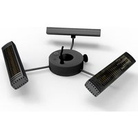Product photograph showing 3kw Tri Parasol Heater With Remote