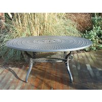 Tudor Oval Aluminium Table - 1.8m X 1.2m