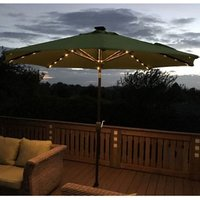 Product photograph showing Verona Parasol With Usb Charger Led Lights