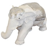Product photograph showing White Elephant Ornament