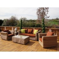 Product photograph showing Montana 3 Seater Sofa Suite - Outdoor