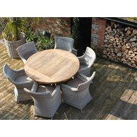 York 6 Chair Round Dining Set