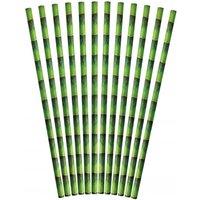 Papierstrohhalme Bambus Trinkhalme Papier 24 Stück Plastikfrei Kompostierbar