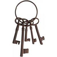 Deko-Schlüssel Bund mit 5 Schlüsseln Nostalgie Gusseisen Antik-Braun