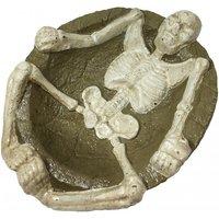 Aschenbecher mit Skelett Halloween Gusseisen Gothic Totenkopf