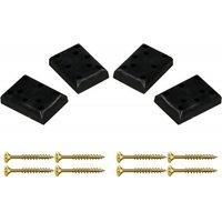 Strandkorb PE-Gleiter Kunststoff 4er Set