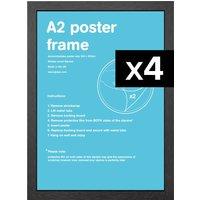 Flat MDF A2 Poster Frame Bundle x 4