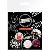 5 Seconds Of Summer Mix 2 Badge Pack - 5 Seconds Of Summer Gifts