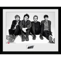 5 Seconds of Summer Sitting Framed Collector Print - 5 Seconds Of Summer Gifts