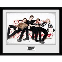 5 Seconds of Summer Sofa Framed Collector Print - 5 Seconds Of Summer Gifts