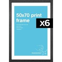 50x70cm Flat MDF Poster Frame Bundle x 6