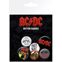Ac/Dc Mix Badge Pack - Acdc Gifts