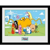 Adventure Time Group Framed Collector Print - Adventure Time Gifts