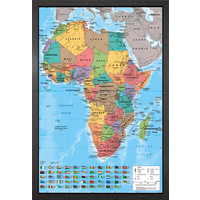 Africa Map Framed Maxi Poster - Africa Gifts