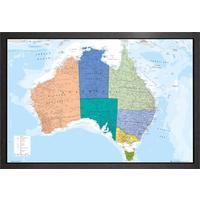 Australia Map Framed Maxi Poster - Australia Gifts