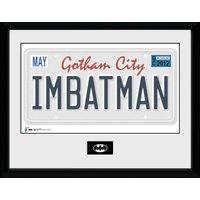 Batman License Plate Framed Collector Print - Batman Gifts