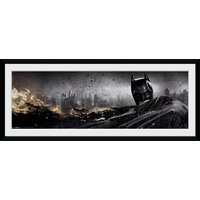 Batman The Dark Knight Rises Action Framed Collector Print - Batman Gifts