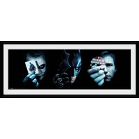 Batman (The Dark Knight) Trio Framed Collector Print - Batman Gifts