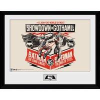 Batman Vs Superman Battle Framed Collector Print - Batman Gifts