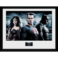 Batman Vs Superman City Framed Collector Print