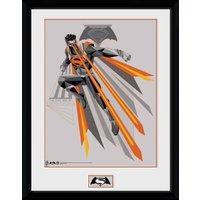 Batman Vs Superman Eyes Framed Collector Print - Batman Gifts