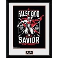 Batman Vs Superman False God Framed Collector Print - Batman Gifts