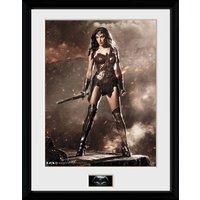 Batman Vs Superman Wonder Woman Framed Collector Print - Batman Gifts