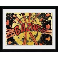 Big Bang Theory Bazinga Comic Framed Collector Print - Big Bang Theory Gifts