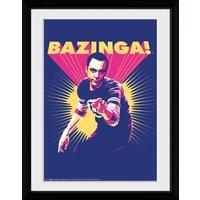 Big Bang Theory Bazinga Framed Collector Print - Big Bang Theory Gifts