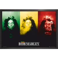 Bob Marley Flag Framed Maxi Poster