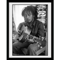 Bob Marley Guitar Framed Collector Print - Bob Marley Gifts