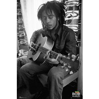 Bob Marley Guitar Maxi Poster - Bob Marley Gifts