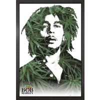 Bob Marley Leaves Framed Maxi Poster - Bob Marley Gifts