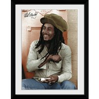 Bob Marley Rolling Framed Collector Print - Bob Marley Gifts