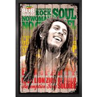 Bob Marley Songs Framed Maxi Poster - Bob Marley Gifts