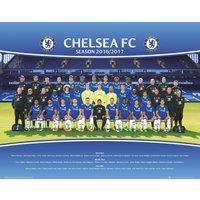 Chelsea Team Photo 16/17 Mini Poster