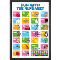 Educational Alphabet Framed Maxi Poster - Educational Gifts