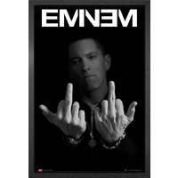 Eminem Fingers Framed Maxi Poster - Eminem Gifts