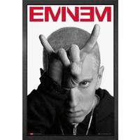 Eminem Horns Framed Maxi Poster - Eminem Gifts