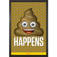 Emoji Poo Framed Maxi Poster - Poo Gifts