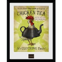Fable Chicken Framed Collector Print - Chicken Gifts