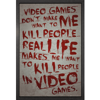 Gaming Video Games Framed Maxi Poster - Games Gifts