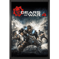 Gears Of War 4 Game Cover Framed Maxi Poster - Gears Of War Gifts
