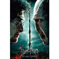 Harry Potter 7 Part 2 Teaser Maxi Poster - Harry Potter Gifts