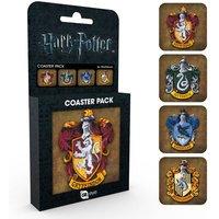 Harry Potter Crests Coaster Pack - Harry Potter Gifts